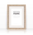 Wooden Frame on a Glossy Surface vector image
