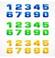 Color alphabet isometric vector image