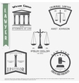 Lawyer services Law office The judge the vector image