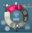infographic layout infographics with big circle vector image