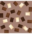 seamless background with black and white chocolate vector image