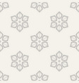 abstract geometric floral ornament seamless vector image vector image