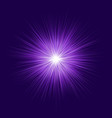 abstract purple blast design on dark background vector image vector image