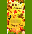 autumn falling leaf september forest banner vector image vector image