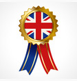badge or medal of united kingdom insignia vector image