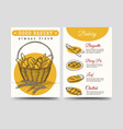 baked goods brochure flyer template vector image