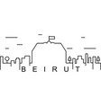 beirut outline icon can be used for web logo vector image