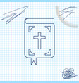 bible book line sketch icon isolated on white vector image vector image