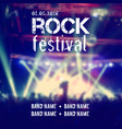 Blurred background with rock stage and crowd rock