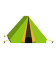 bright green tourist tent icon isolated on white vector image