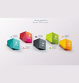 business design template with bright 3d cubes can vector image vector image