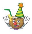 clown cocktail coconut mascot cartoon vector image vector image