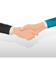corporate business handshake concept people vector image