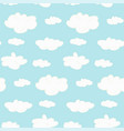 cute seamless clouds pattern vector image