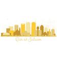 dar es salaam tanzania skyline golden silhouette vector image vector image