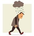 depressed man vector image