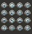 electronic repair icons set vector image