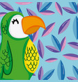 exotic birds cartoon vector image vector image