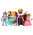fairytale characters with king and queen vector image vector image