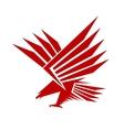 Falcon mascot vector image vector image