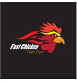 fast chicken logo designs vector image