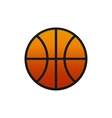 Flat basketball icon vector image vector image