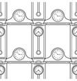 grandfather clock and mantel clocks black and vector image vector image