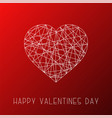happy valentines day background card abstract vector image vector image