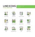 Hotel Services - flat design line icons set vector image vector image