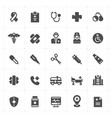 icon set - healthcare and medical filled vector image vector image