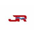 JR Logo Graphic Branding Letter Element vector image vector image