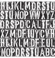 letterpress seamless bw vector image vector image