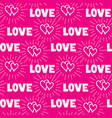love hearts and handwritten lettering love vector image