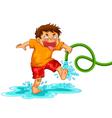 mischievous boy vector image vector image