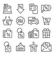 modern flat icons set of business or black friday vector image