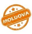 Moldova grunge icon vector image vector image