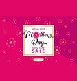 mothers day sale banner rose color flowers on pink vector image