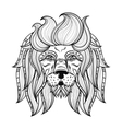 ornamental Lion ethnic patterned head vector image vector image