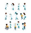 patient and doctors medical staff and patients in vector image