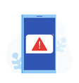 phone notifications new message received vector image