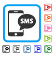 phone sms framed icon vector image vector image