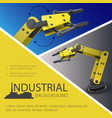 realistic industrial composition vector image