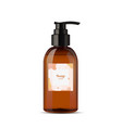 realistic liquid soap brown bottle with pump vector image vector image