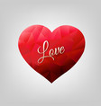 red heart isolated vector image