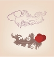 Romantic Valentines background heart ornate vector image vector image