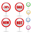 round labels vector image vector image