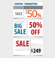 Sale Coupon voucher tag Template Design vector image vector image