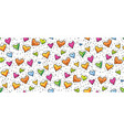 seamless birthday or valentine pattern with cute vector image vector image