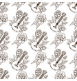 seamless pattern from outline drawings of the vector image vector image