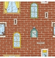 Seamless Pattern with Brick Wall and Color vector image vector image